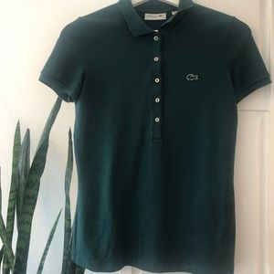 Lacoste green polo like new